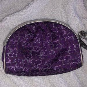 Purple Coach Makeup Bag